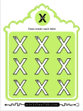 Printing practice activities for the capital letter X